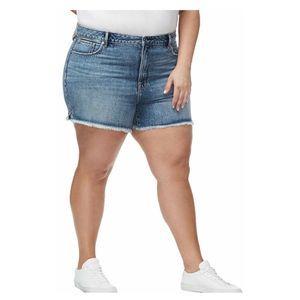 Good American Bombshell Distressed Shorts